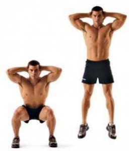 personal training jumb squat